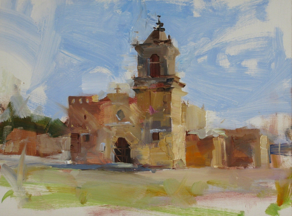 """OPA at the Mission"" original fine art by Qiang Huang"