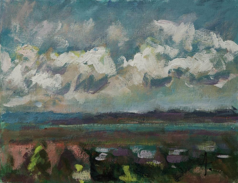 """""""Clouds over the Salt Lake Valley"""" original fine art by Andre Pallat"""