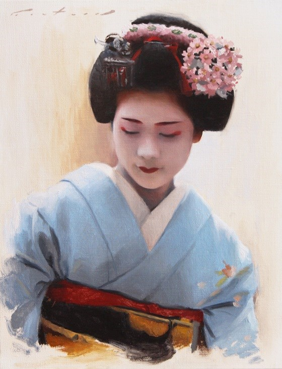 """Maiko Toshisumi"" original fine art by Phil Couture"
