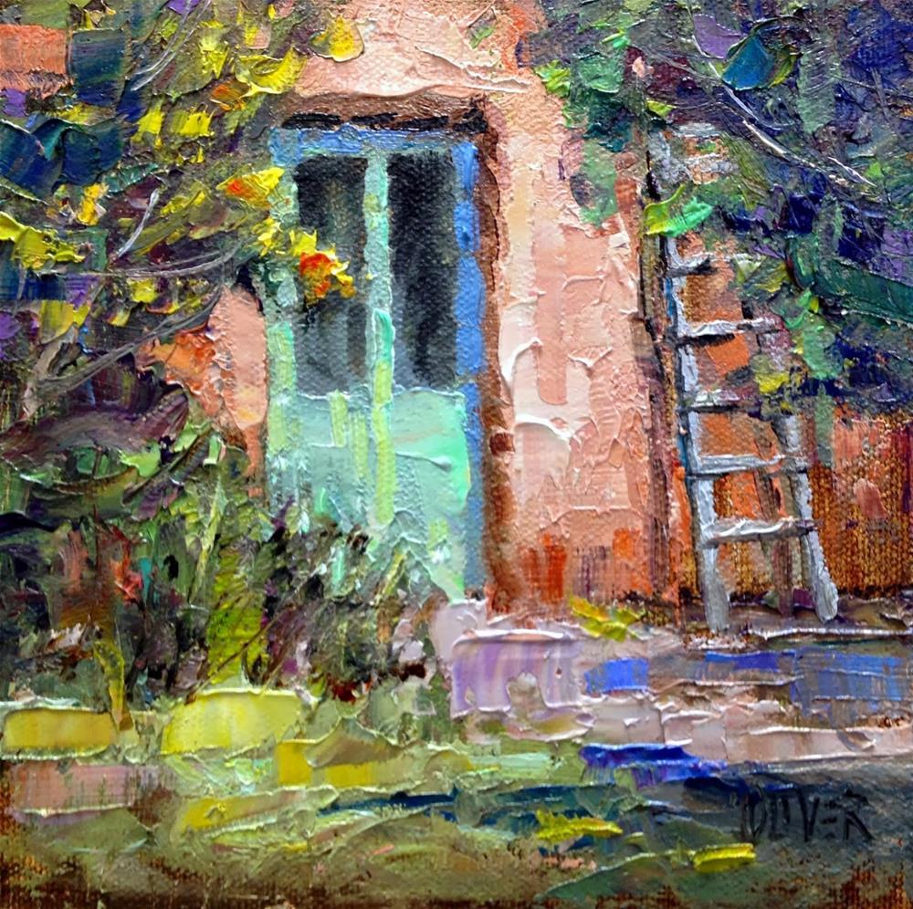 """""""Georgia's Door"""" original fine art by Julie Ford Oliver"""