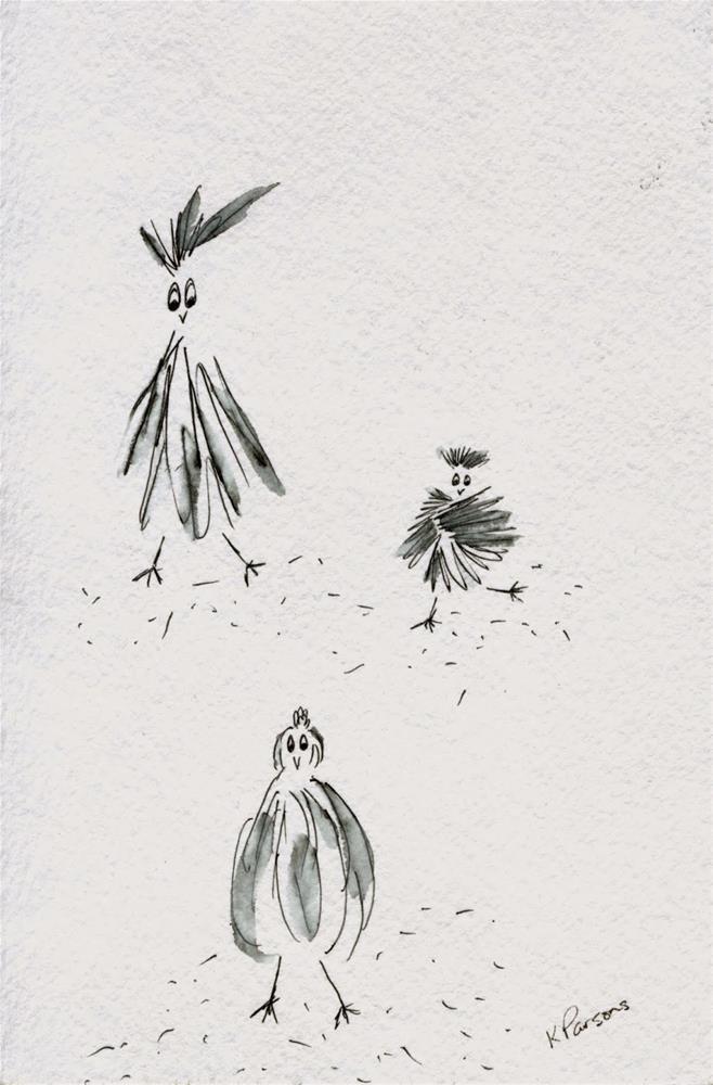 """A Backyard Whodunnit"" original fine art by Kali Parsons"