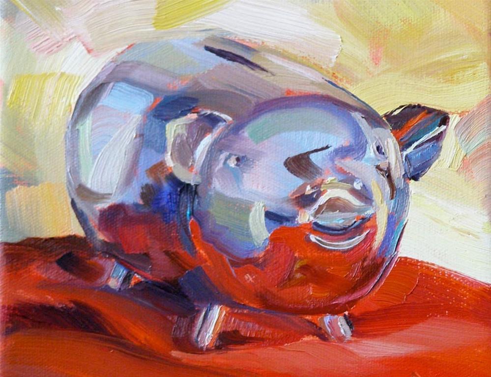 """Feed Me, 6x6 Oil Painting on Canvas"" original fine art by Carmen Beecher"