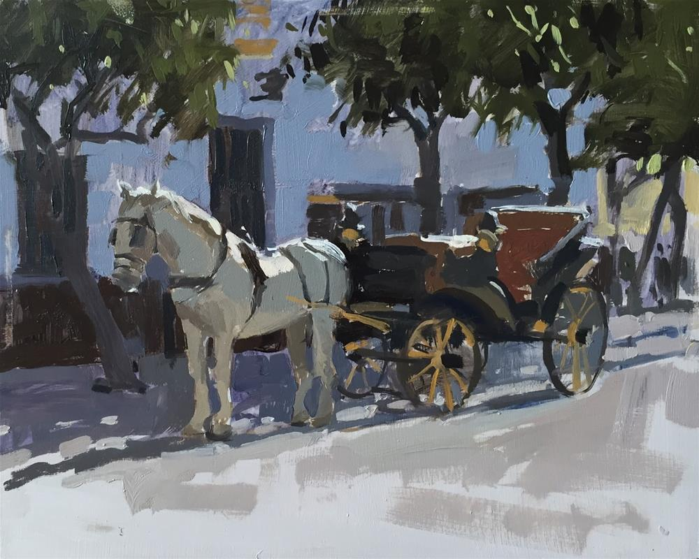 """""""Horse and carriage"""" original fine art by Haidee-Jo Summers ROI"""