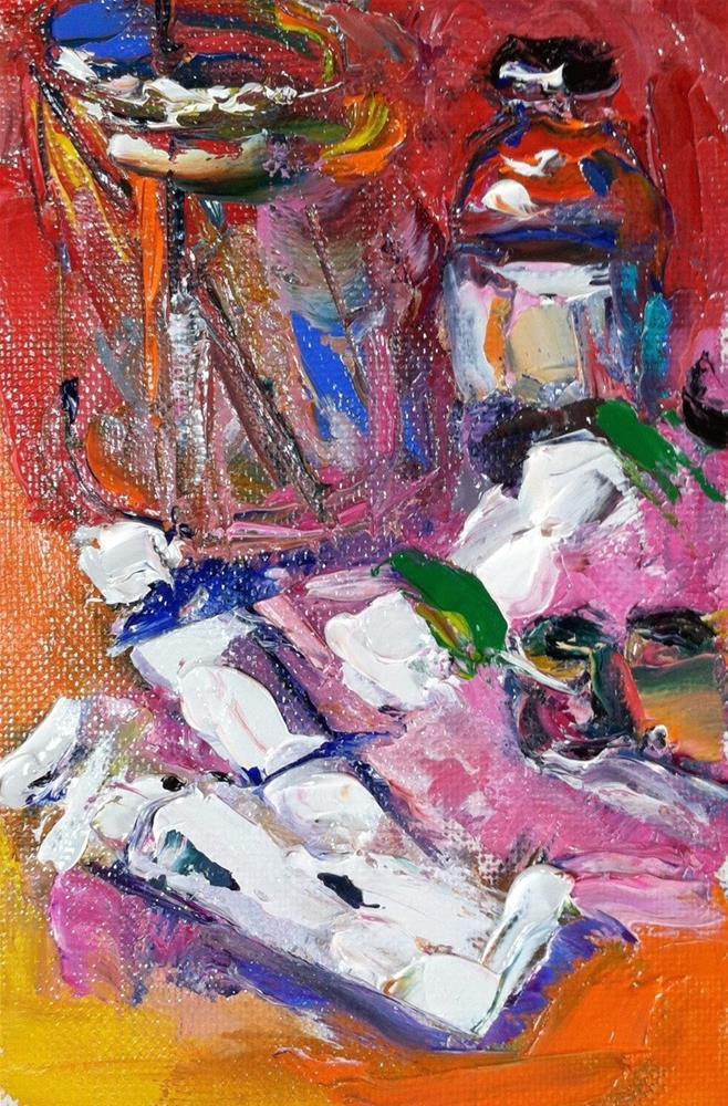 """Painter's Still Life"" original fine art by Christine Parker"