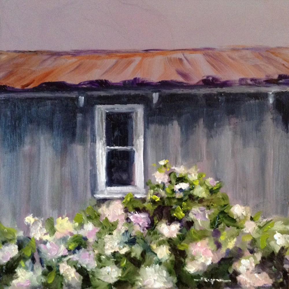 """""""Old Gardening Shed"""" original fine art by Shelley Koopmann"""