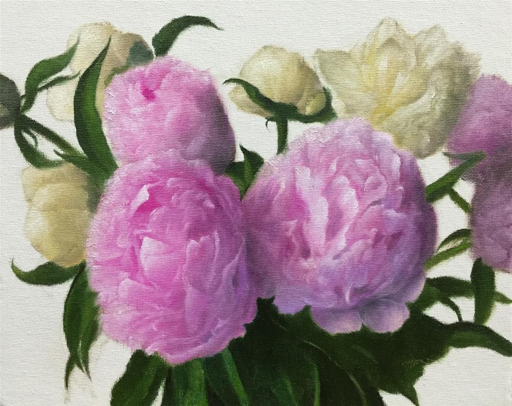 """""""Bouquet Peonies"""" original fine art by Jonathan Aller"""