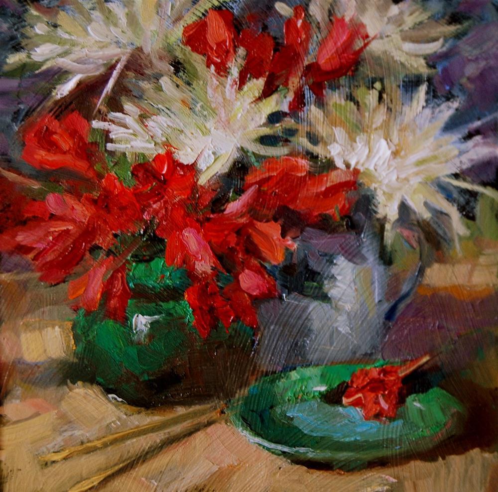 """""""Flower Study"""" original fine art by Julie Ford Oliver"""