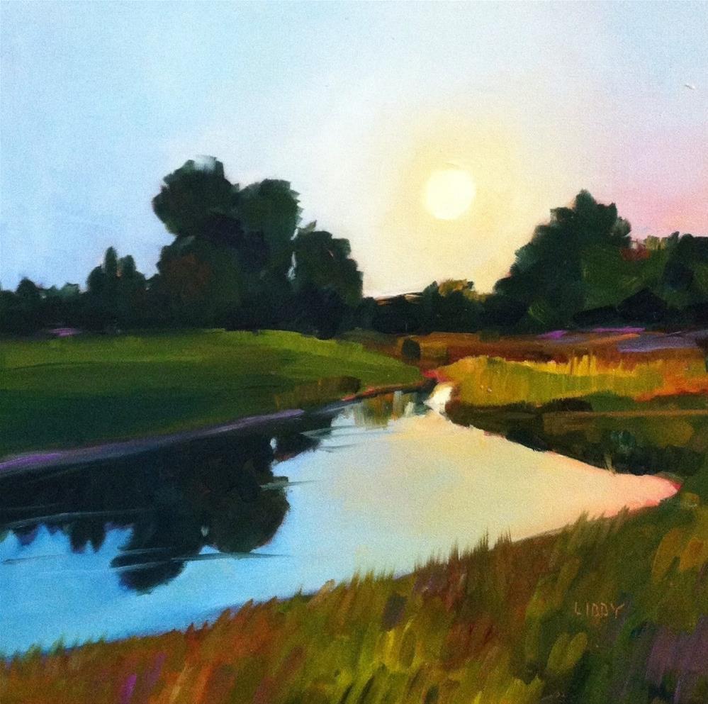 """Lake Sunrise"" original fine art by Libby Anderson"