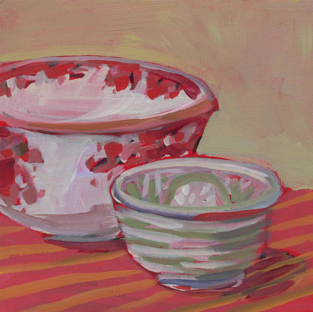 """0532: New Bowls"" original fine art by Brian Miller"