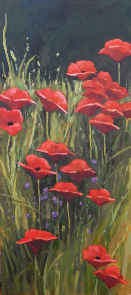 """A Slice of Poppies"" original fine art by Lisa Kyle"