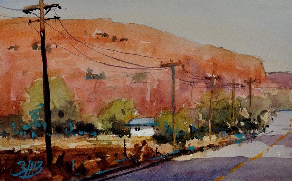 """""""Mid Evening"""" original fine art by Brienne M Brown"""