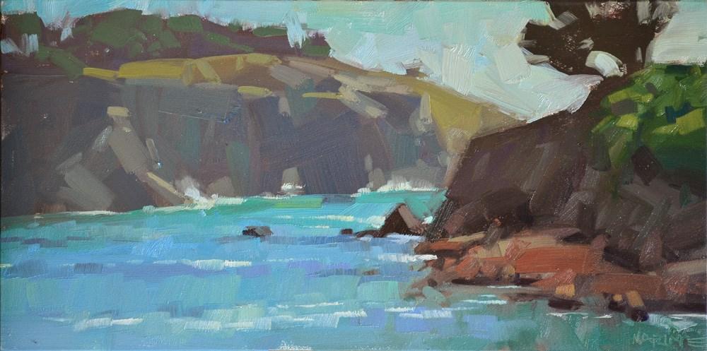 """""""Distant Cliffs"""" original fine art by Carol Marine"""