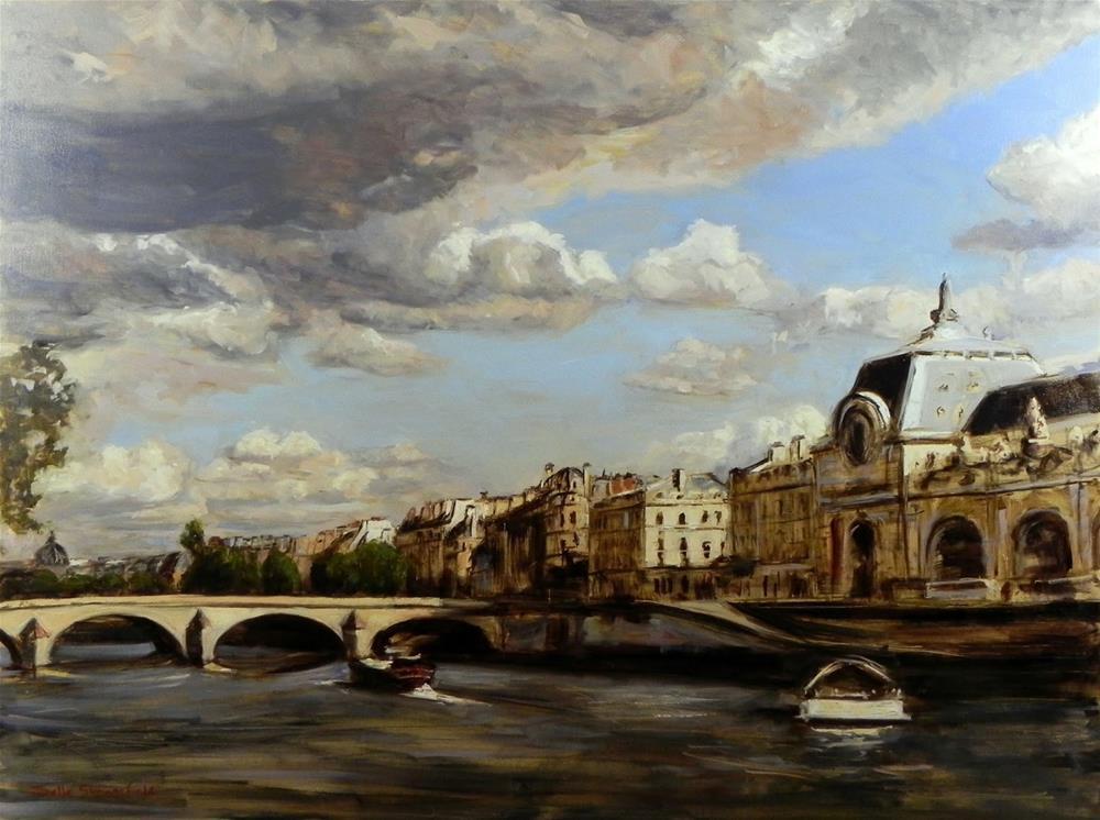 """""""View of the Seine"""" original fine art by Jonelle Summerfield"""