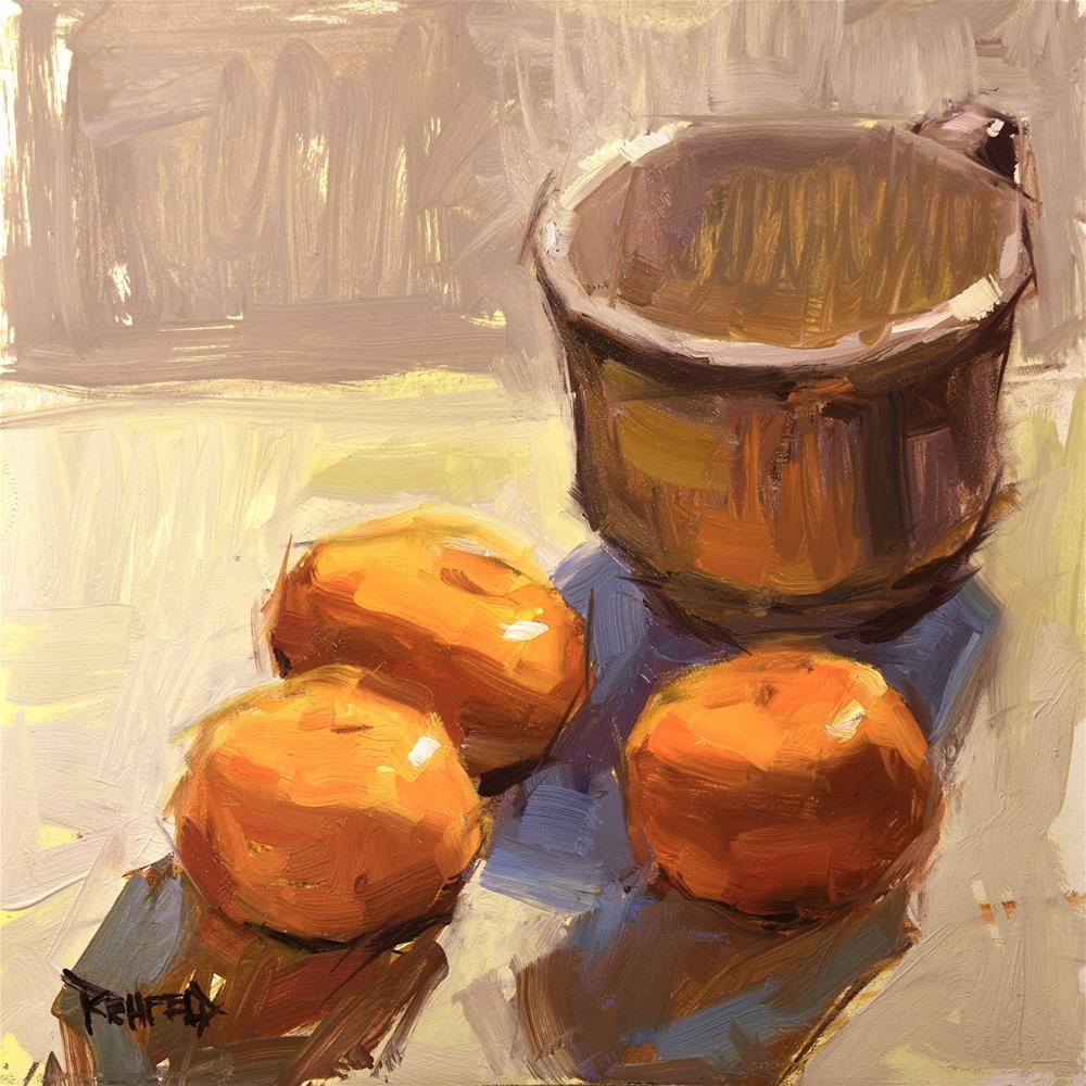 """""""Oranges and Neutrals"""" original fine art by Cathleen Rehfeld"""