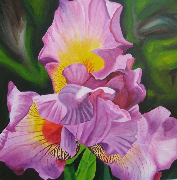 """Springtime Iris"" original fine art by Lisa Wiertel"