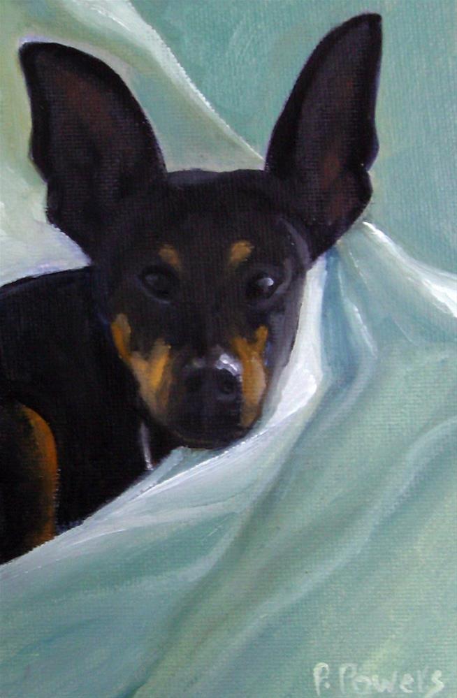 """Baxter"" original fine art by Patricia J. Powers"