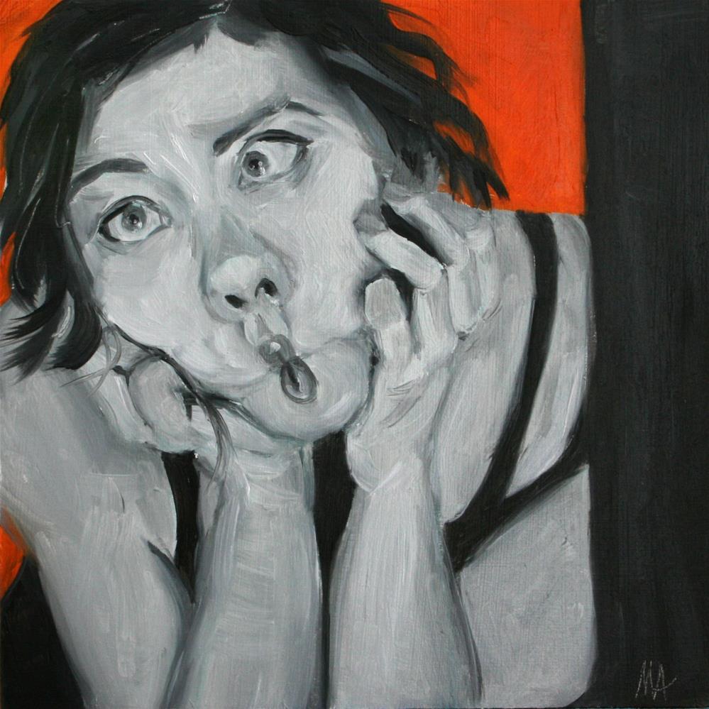 """Light-minded Portrait"" original fine art by Aniko Makay"