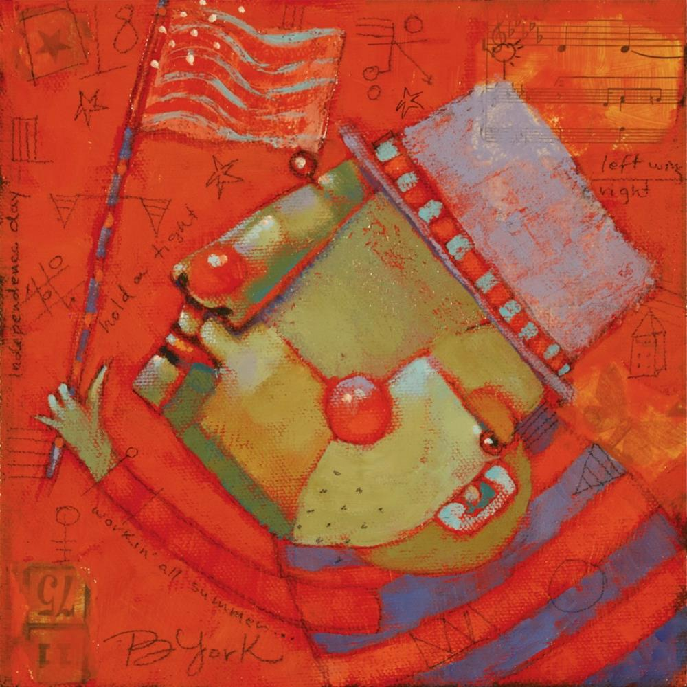 """Red Flag"" original fine art by Brenda York"