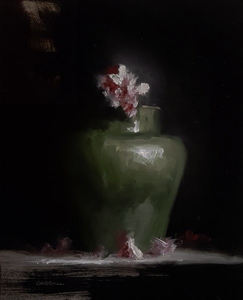 """Azalea and Pot"" original fine art by Neil Carroll"