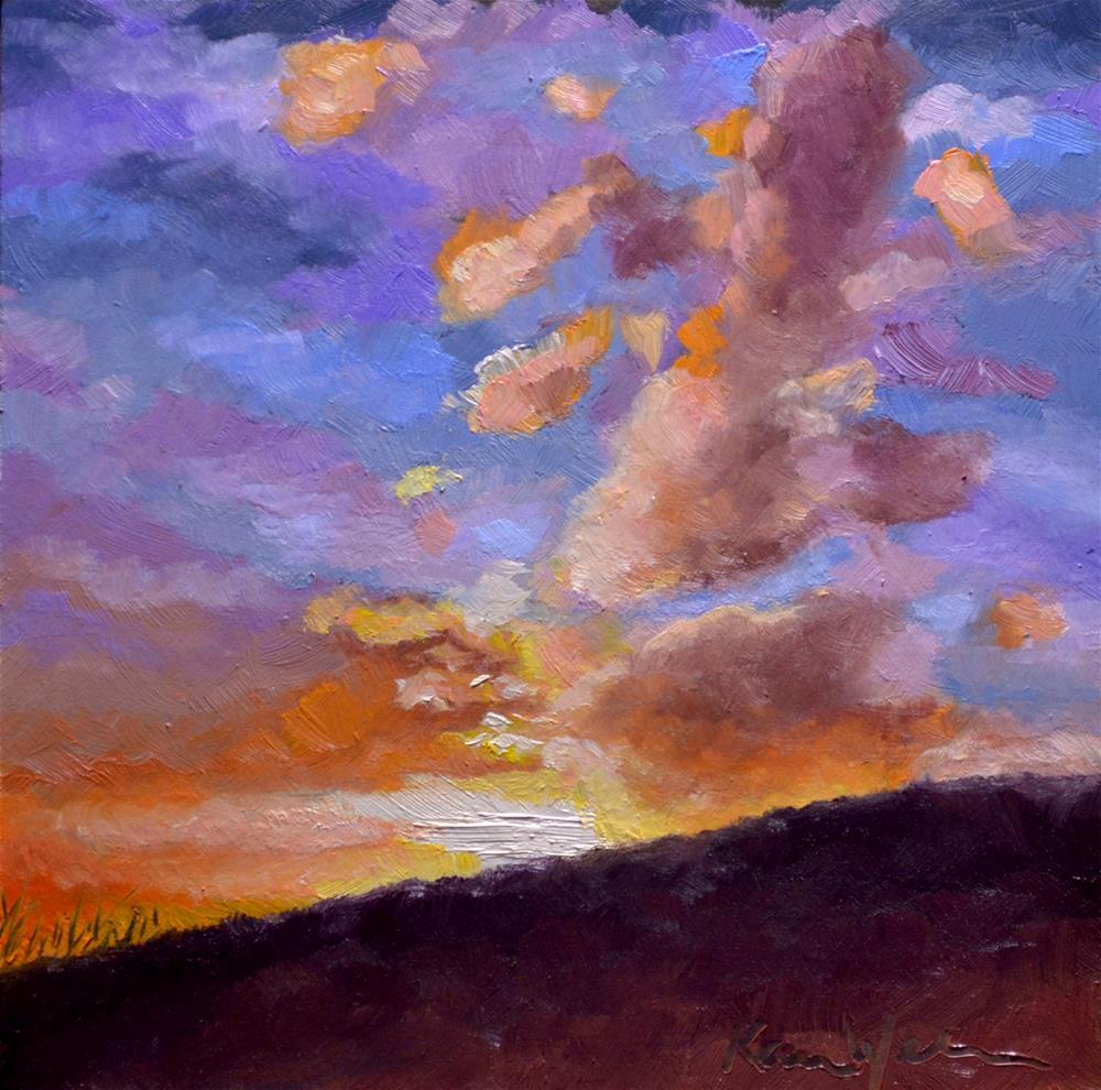 """A Spectacular End to the Day"" original fine art by Karen Weber"