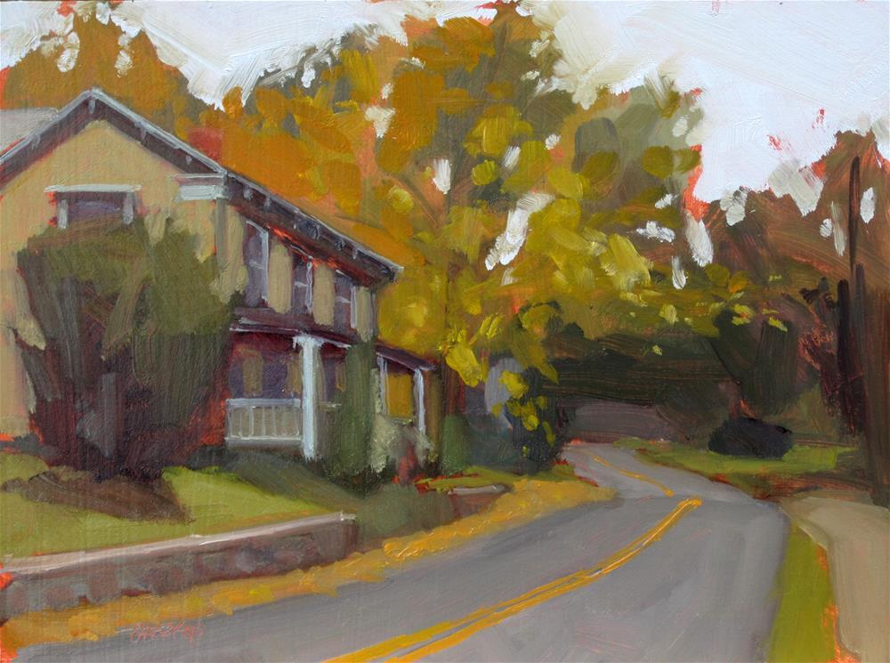 """""""autumn in the village"""" original fine art by Dan Graziano"""