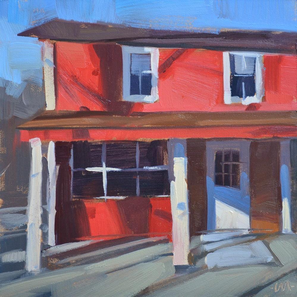 """Evening Red"" original fine art by Carol Marine"