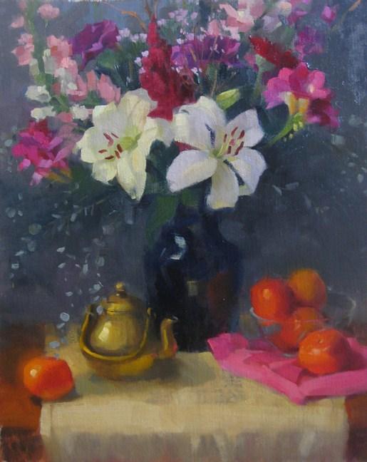 """""""Valentine"""" original fine art by Kathy Weber"""
