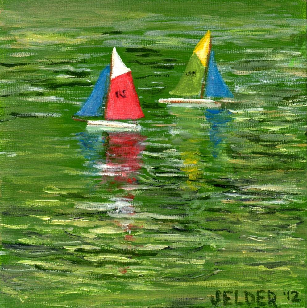 """""""Luxembourg Gardens No. 1"""" original fine art by Judith Elder"""