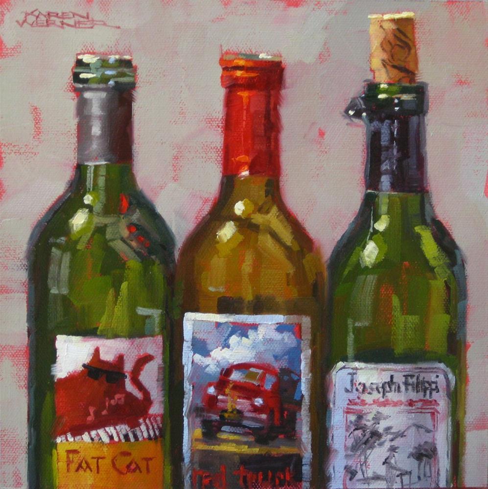 """""""Bottle Necked"""" original fine art by Karen Werner"""