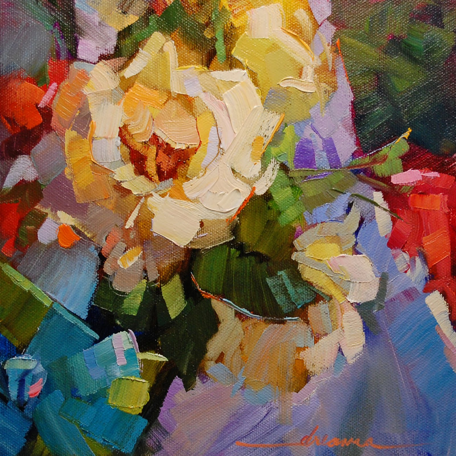 """""""For the Love of Color"""" original fine art by Dreama Tolle Perry"""