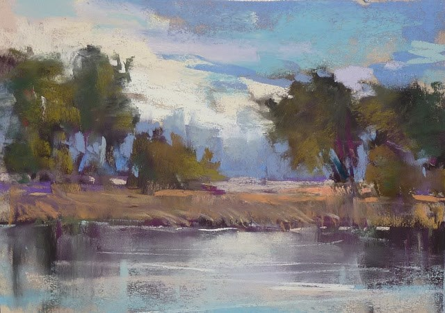 """Behind the Scenes of a Large Pastel Project"" original fine art by Karen Margulis"