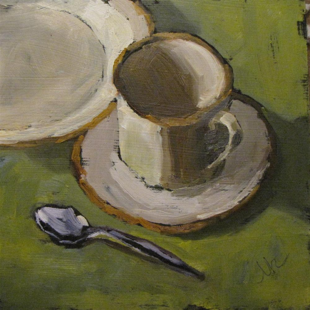 """""""Cup and Saucer"""" original fine art by Louise Kubista"""