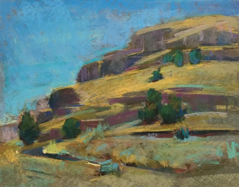 """Hood River Seven Layer Cake"" original fine art by Patti McNutt"