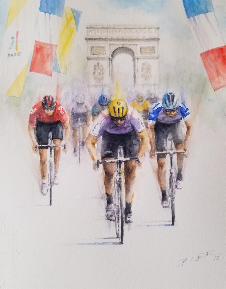 """""""Tour de France"""" original fine art by Peter Lee"""