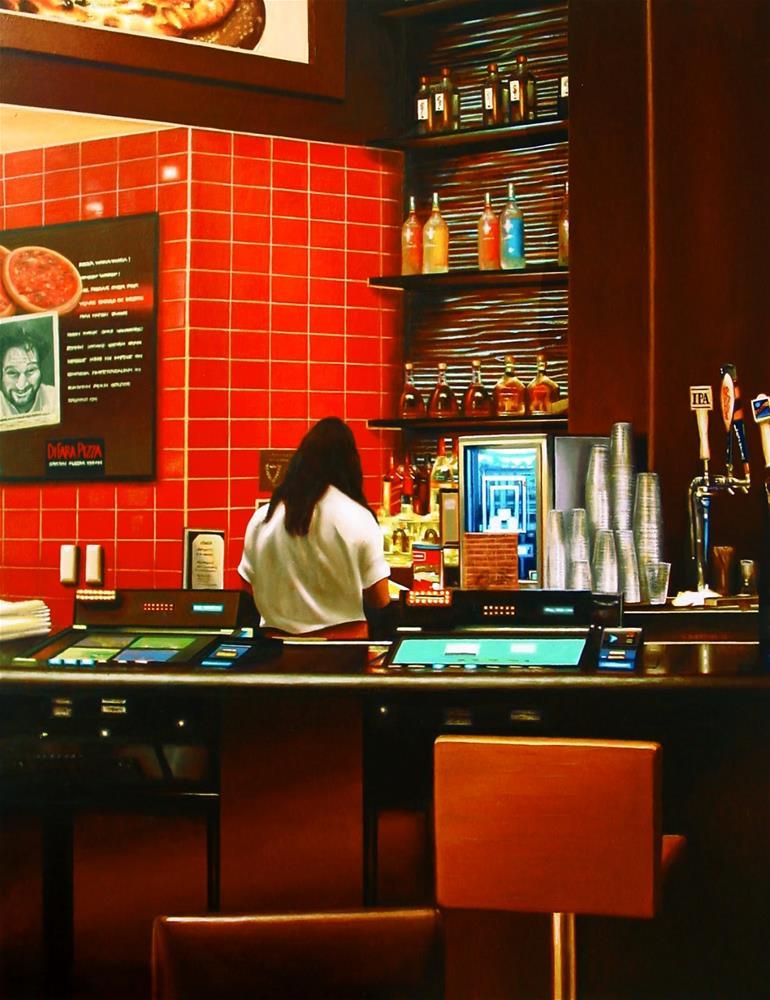 """Las Vegas Bar- Painting Of A Bar In Las Vegas"" original fine art by Gerard Boersma"