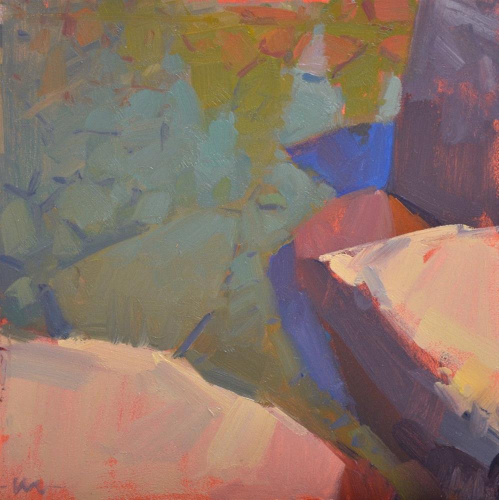 """Water and Rocks III"" original fine art by Carol Marine"