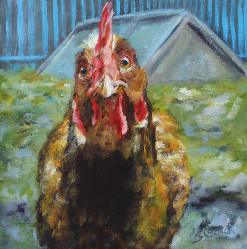"""Hen House"" original fine art by Susan Galick"