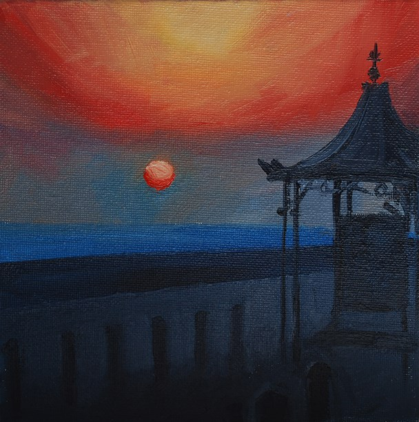 """Shelter at Sunrise"" original fine art by J M Needham"