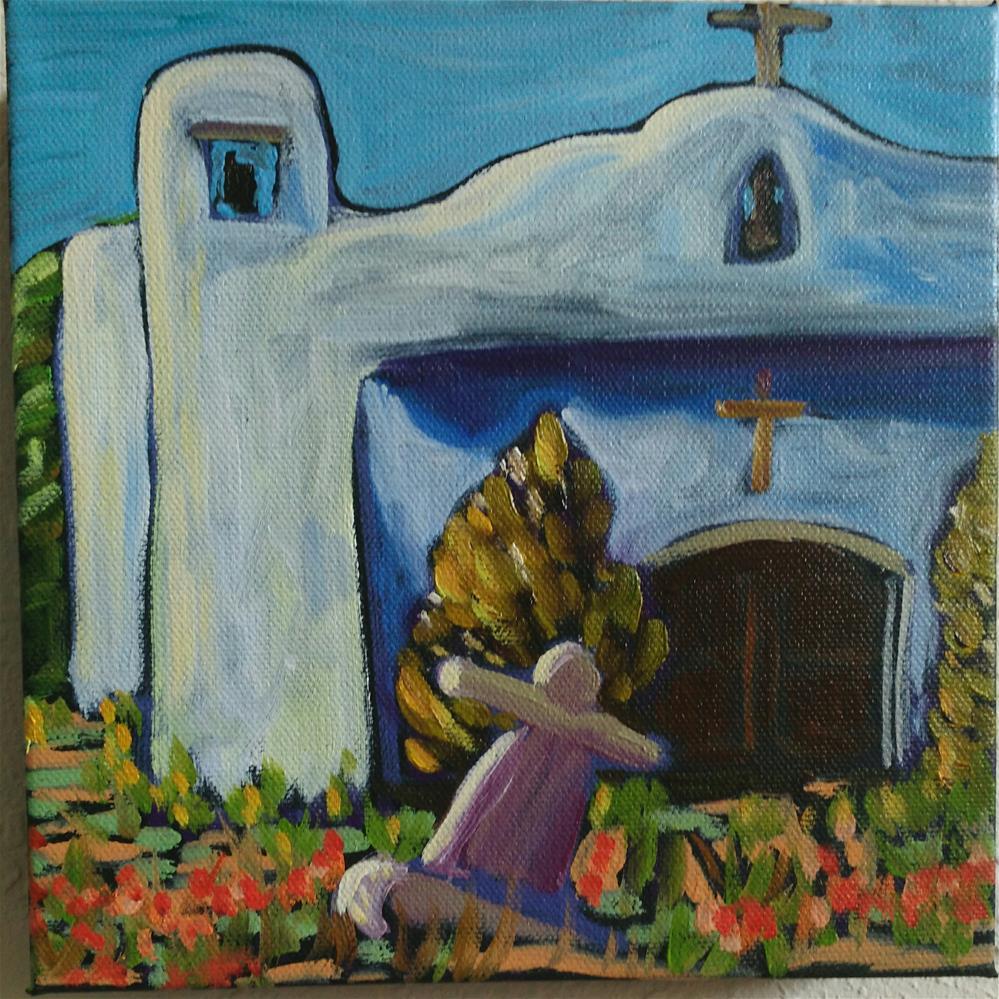 """San Francisco church in Golden New Mexico"" original fine art by Robyn Suzanne"