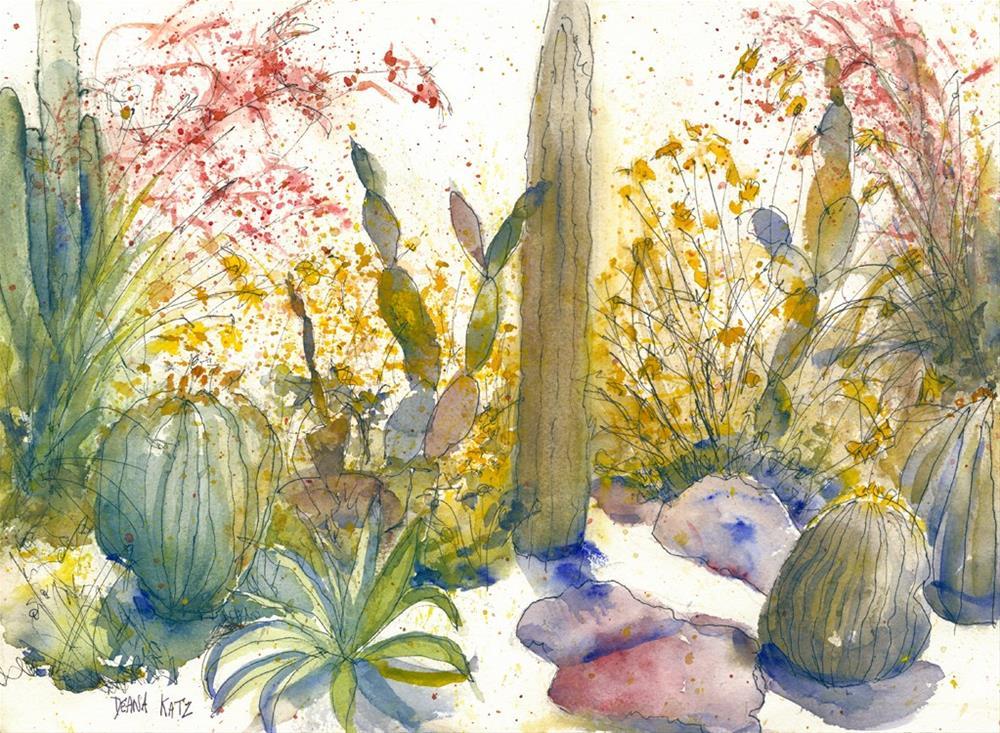 """Garden Delight"" original fine art by Deana Katz"