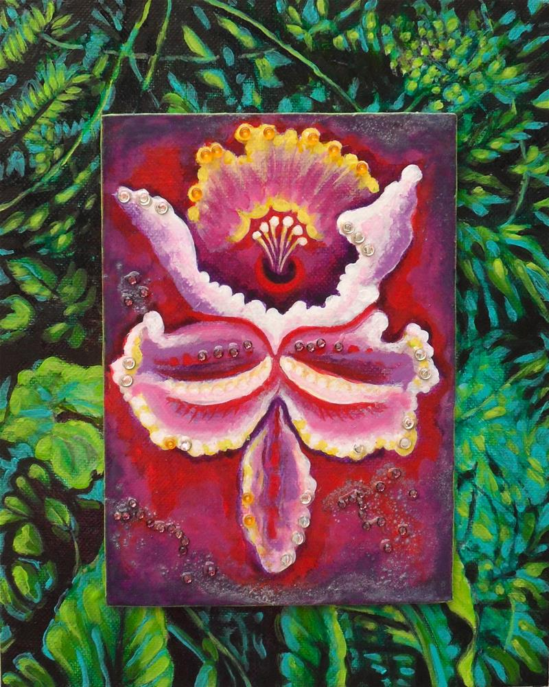 """Bibbity"" original fine art by Karen Roncari"