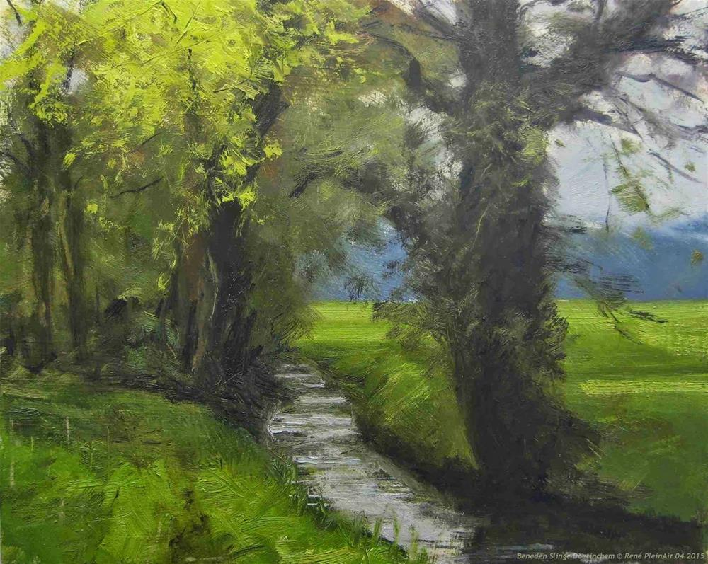 """Beneden Slinge Doetinchem, The Netherlands"" original fine art by René PleinAir"