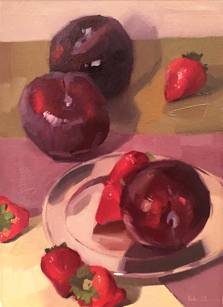 """Plum Parade - Now It's a Series!"" original fine art by Sarah Sedwick"