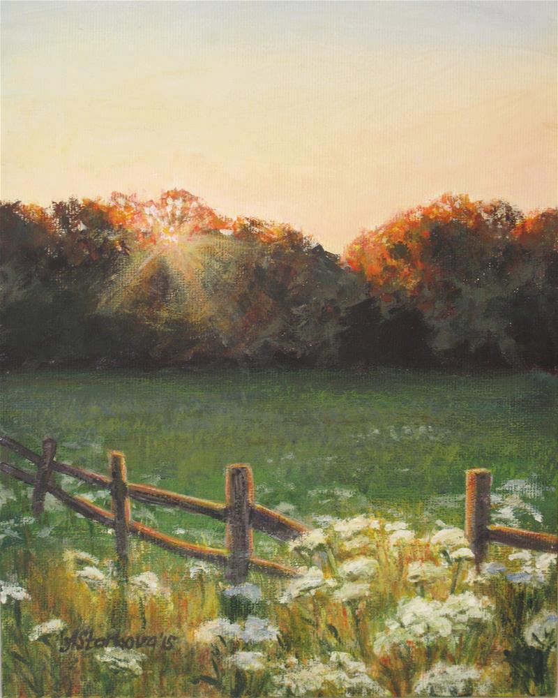"""Mid-summer sunset"" original fine art by Anna Starkova"