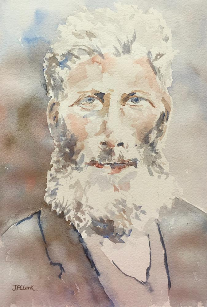 """Old Man Benson"" original fine art by Judith Freeman Clark"