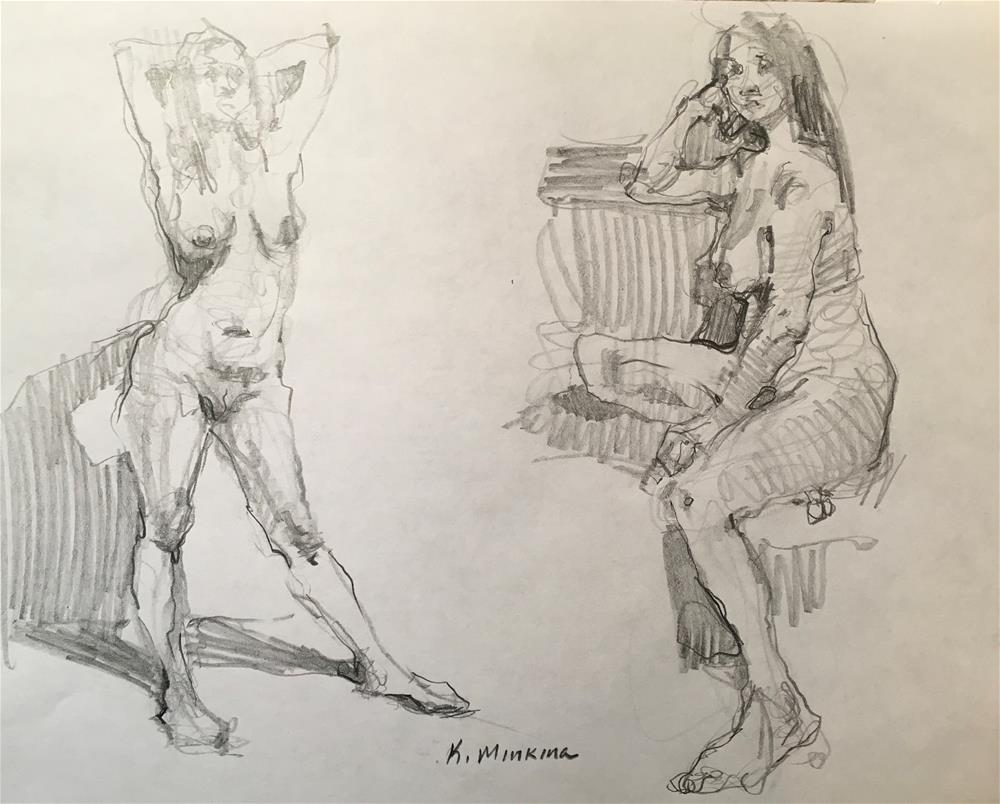 """figuary29"" original fine art by Katya Minkina"