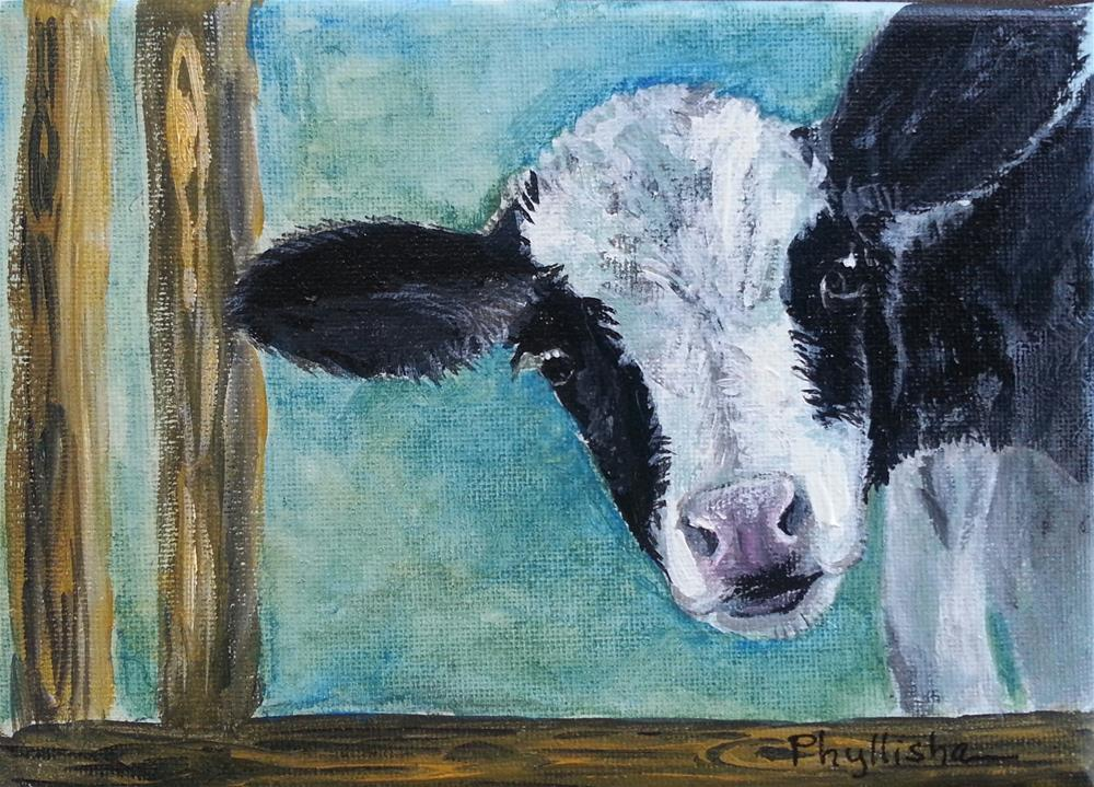 """Peewee too."" original fine art by Phyllisha Hamrick"