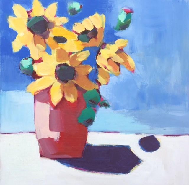 """#18 Abstract Flowers "" original fine art by Belinda Bell"