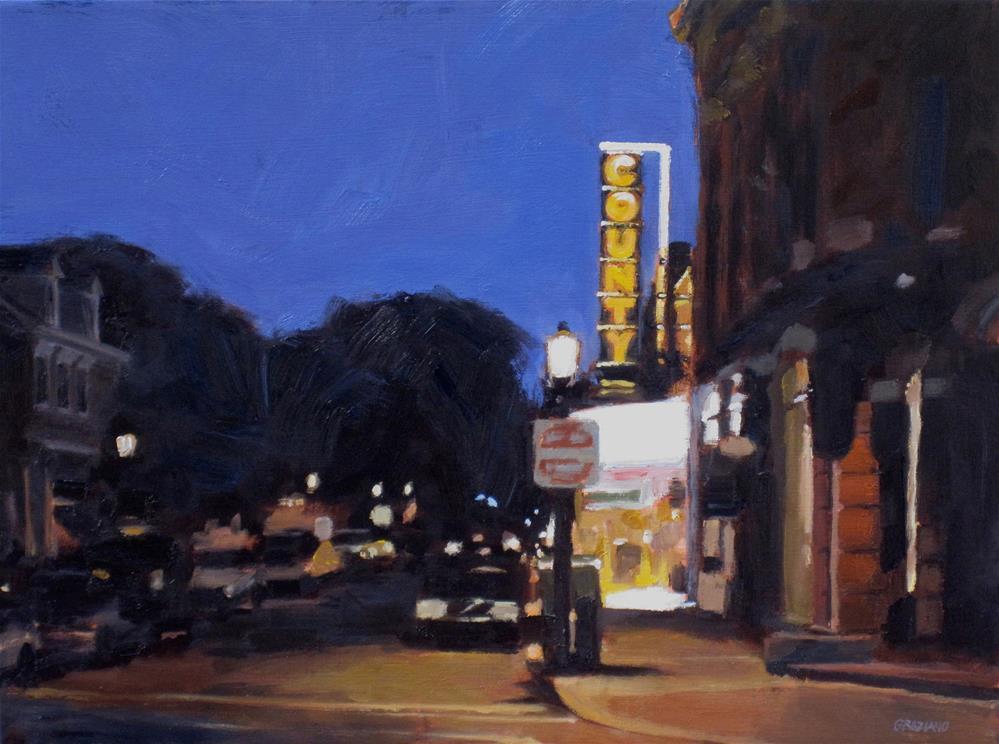 """""""County Theater"""" original fine art by Dan Graziano"""