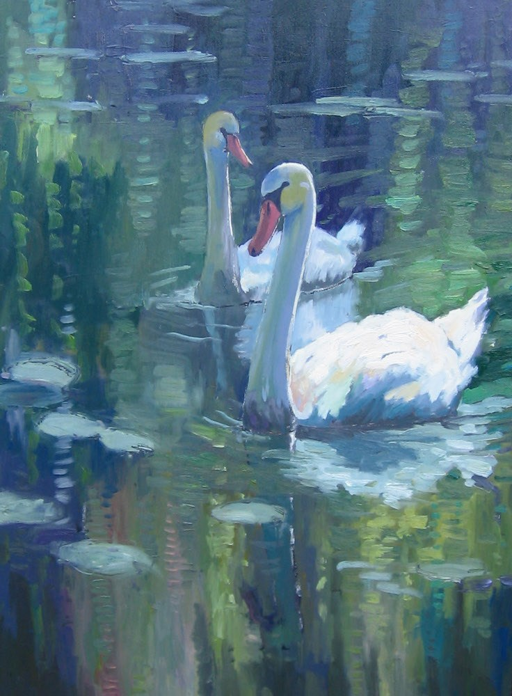 """Swans"" original fine art by Doug Gorrell"